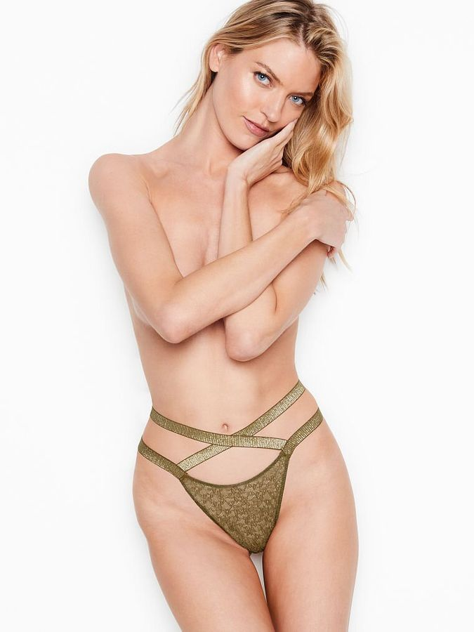 Трусики Strappy Lace Brazilian Victoria's Secret